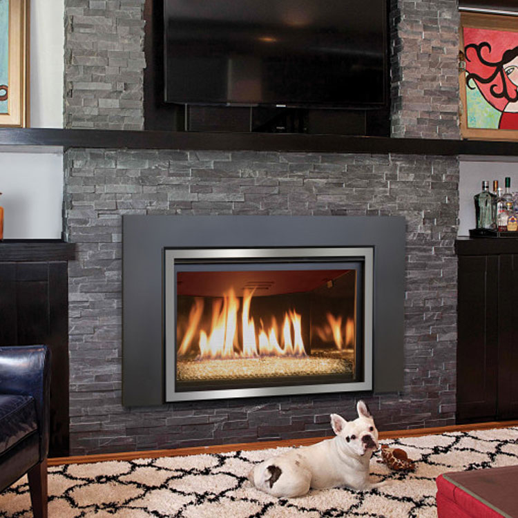 how to clean a gas fireplace insert
