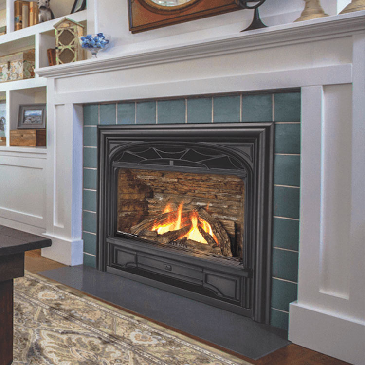 Valor Horizon with Traditional Cast Front, Gas, Zero Clearance Fireplace - Fergus Fireplace